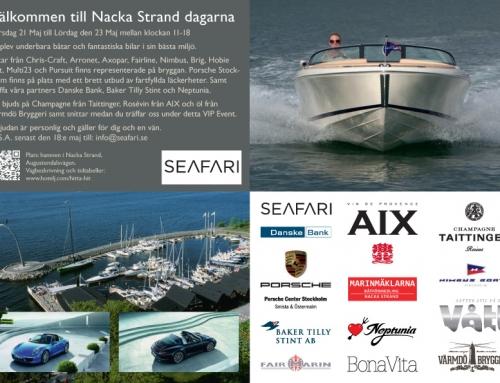 Inbjudan till båtmässa i Nacka Strand
